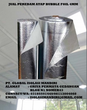 BUBBLE ALUMINIUM FOIL 1M x 25M x 4MM
