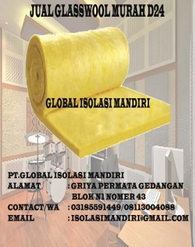 Glasswool peredam suara 24kg/25mm