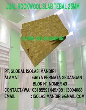 harga rockwool slab palu 25mm