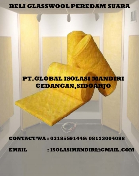Glasswool peredam suara D16/50mm