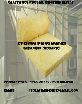 harga glasswool roll tenggarong d16